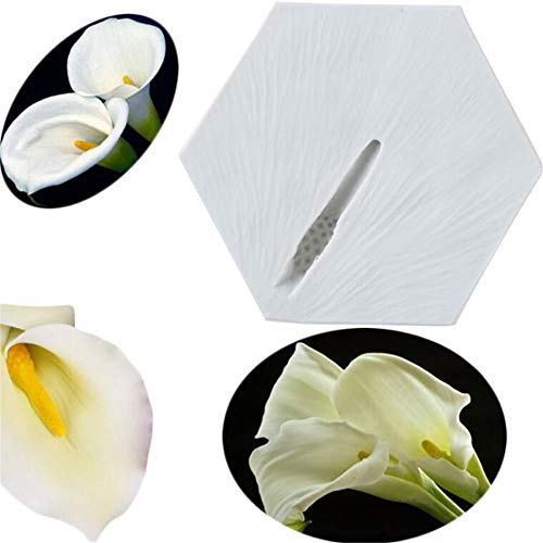 Flower Stamen Silicone Fondant Mould Mousse Cake Decorating Tool Sugarcraft Chocolate Gumpaste Cake Decorative Molds Kitchen Bakeware Accessories ({type=string, value=Calla lily}) ()