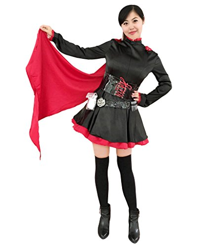 [Girs/Women Dazcos RWBY Ruby Rose Cosplay Costume Lolita Dress (Women M)] (Gir Costume)