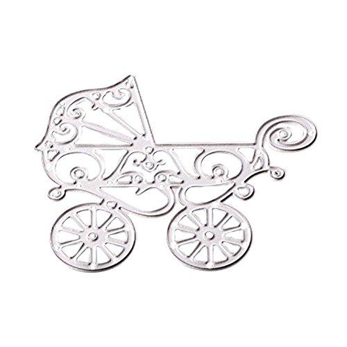 Zeroyoyo Baby Carriage Album Frame Metal Cutting Dies Stencil DIY Scrapbooking Template Decor Card Making Kids Children Educational Craft