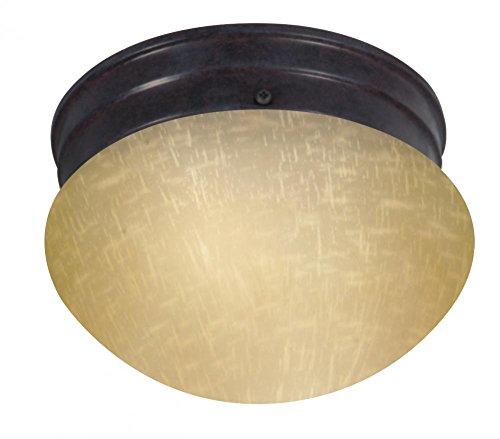 Nuvo Lighting 60/2652 Single Light Small Mushroom Energy Star Flush Mount Ceiling Fixture with Champagne Linen Glass Shade (Star Small Flush Energy)