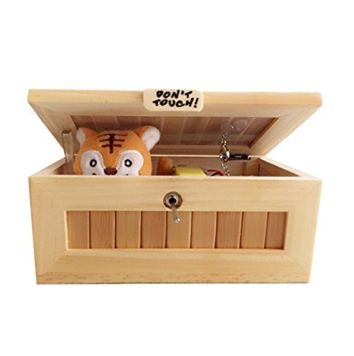 Eastern Fashional Life Fully Assembled Turns Itself Off Useless Box Leave Me Alone Machine Box with Real Wood (Cute Tiger Surprise(Big)) Tiger Woods Christmas Card