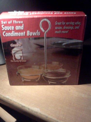 Gemco Sauce & Condiment Bowl Gift Box Set