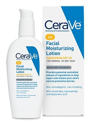 CeraVe Facial Moisturizing Lotion AM -- 3 fl oz (Pack of 2)
