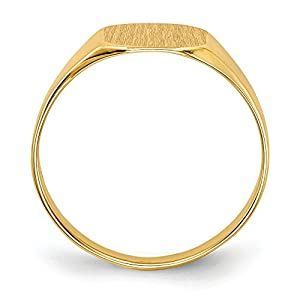 Diamond2Deal 14ct Yellow Gold Mens Signet Ring Solid Back