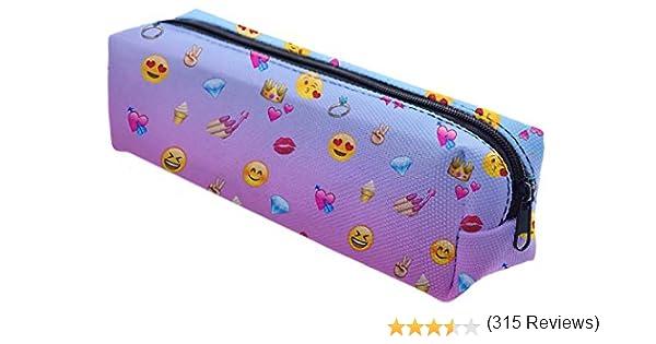 Ferocity Estuches plumier la Tuba Multicolor Emoji Rosa [008]: Amazon.es: Juguetes y juegos