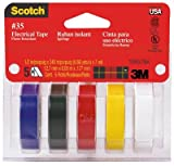 3M 10457 .5 x 240 in. Electrical Tape, 5 Pack