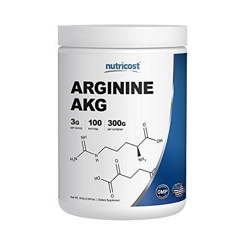 Nutricost Arginine AKG Powder (AAKG) 3G Per Serving Pure Arginine Alpha Ketoglutarate