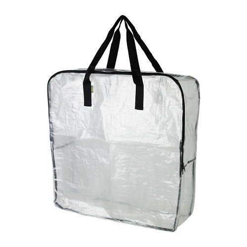 2XBag, Transparent, Size 65x22x65 cm, Protects Contents Against Moisture and Dirt. Also Suitable for Waste Sorting. DIMPA