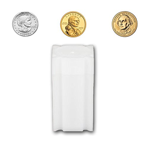 CoinSafe Small Dollar Tube 26.5mm - Each Tube Holds 25ea Susan B. Anthony, Sacagawea or Presidential Dollar Coins
