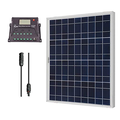 RENOGY 50 Watts 12 Volts Polycrystalline Solar Bundle Kit