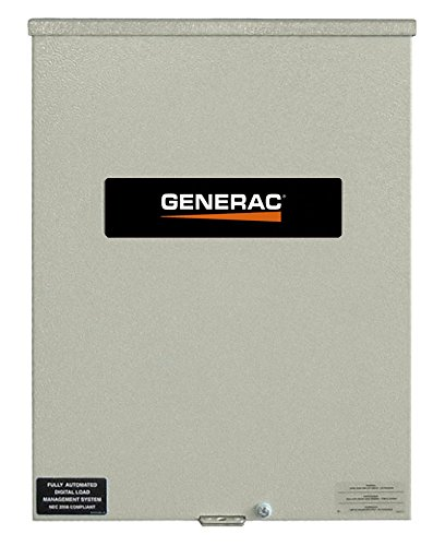 Generac RXSC100A3 100 Amp 120/240 Single Phase NEMA 3R Smart Transfer Switch for Standby Generators