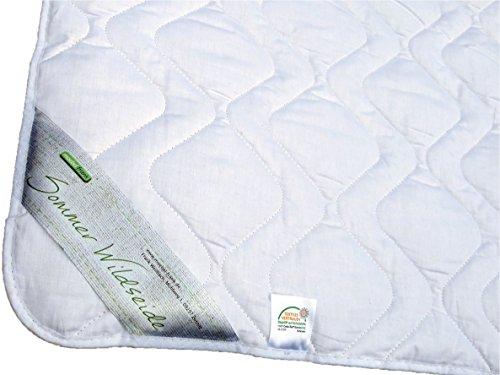 Sommerdecke 135x200 Bettdecke Sommer Wild-Seide Baumwolle Oeko-Tex® Standard 100 Gabriela
