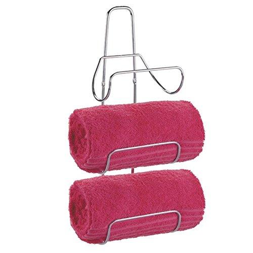 50%OFF mDesign Wall Mount or Over Door Bath Towel Holder Bar - Chrome