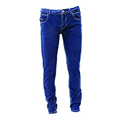 Evolution Division - Men's Blue Washed Denim with Stretch Jeans - (Size: 40W x 32L) - Brooklyn Style