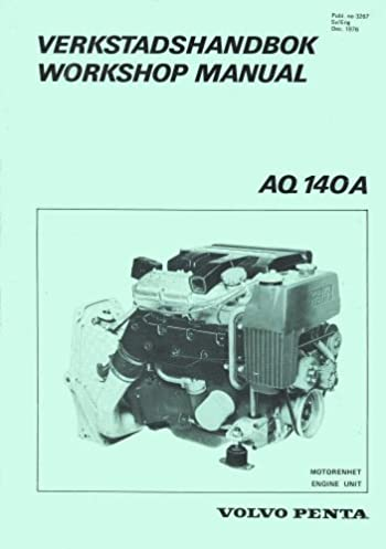 volvo penta aq 140a workshop manual verkstadshandbok volvo penta rh amazon com  volvo penta aq140 repair manual