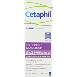 Cetaphil Dermacontrol Facial Moisturizer for Acne-Prone Skin with Suncreen SPF 30, 4 Fluid Ounce