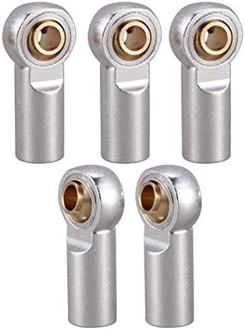 Nrpfell 10 Unids Metal M3 Articulaci/óN de R/óTula de Barra de Acoplamiento para 1//10 RC Car Crawler AXIAL SCX10 D90 D110 CC01 Plata