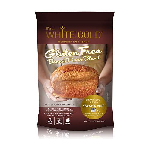Extra White Gold Gluten Free Bread Flour Blend  For Breads Yeasted Pastries  Pizza Focaccia  Kosher Gluten Free Vegan Soy Free Nut Free Dairy Free  11 Pound