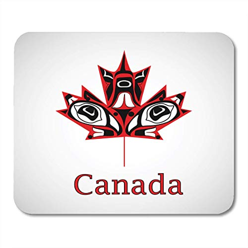 Maple Country Desk (VANKINE Mouse Pads Arms Canadian Native Maple Leaf Canada Citizen Country Cultural Mouse pad 9.5