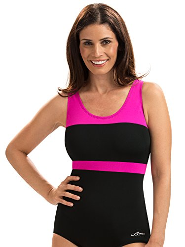 onservative Lap Suit | AMZ68553 (8, Black/Pink) ()