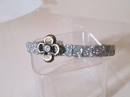 (Cloverleaf glass crystal stone glitter coat bracelet )