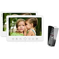 JeaTone 7 LCD Monitor Wired Video Intercom Doorbell for home security systems 1- Camera 2- monitor Video Door Phone Bell Kits support Monitoring, Unlock, Dual-way Door Intercom IR Night Vision