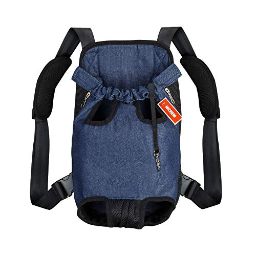 NICREW Legs Out Front Dog Carrier, Hands-Free Adjustable Pet Backpack Carrier, Wide Straps Shoulder Pads