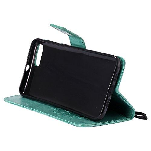 Trumpshop Smartphone Carcasa Funda Protección para Xiaomi Mi 6 [Rojo] 3D Mandala PU Cuero Caja Protector Billetera Choque Absorción Verde