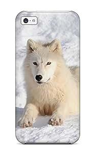 Hot Design Premium CETclBr1262qlJbc Tpu Case Cover Iphone 5c Protection Case(arctic Wolf )