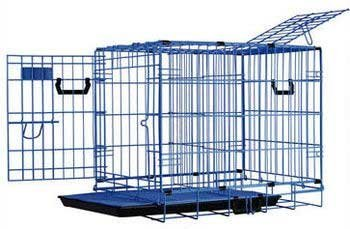 Pet Tek DPK86021 Dream Crate Professional Series 100 Dog Crate with Mesh Floor, 19 by 12 by 15-Inch, Blue
