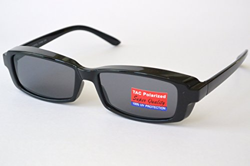 POLARIZED SUNGLASSES black frame COVER OVER prescription eyeglasses