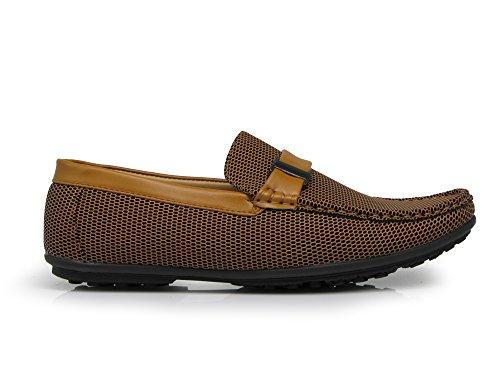 Enzo Romeo Pst02 Hommes Léger Mocassin Confort Mode Conduite Mocassins Chaussures 6 Couleurs Tan