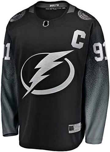 Black LIMONG Outdoor Ice Hockey Hip Hop Clothing Steven Lightning NO.91 Tampa Bay Stamkos Alternate Breakaway Player Jersey Quick-Drying Sportswear For Men