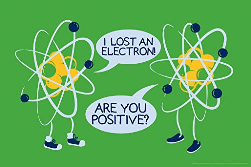 Gotham City Online I Lost an Electron! are You Positive Atomic Humor Poster 12x18 inch