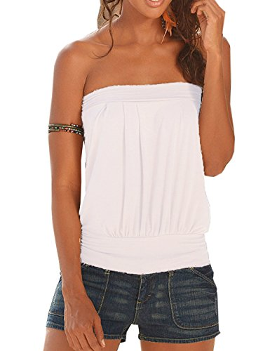 Pleated Strapless Top - 4