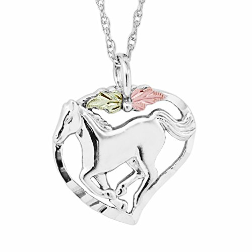 Black Hills Gold on Silver Horse in Heart ()
