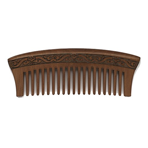 Wood-CombHair-Care-Cnti-static-Massage-CombNatural-Peach-Wood-Made