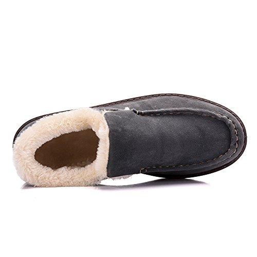Mocassino Morbida Leggero Invernale Shelaidon Suola Caldo Grigio Uomo Pantofola AYgHZ
