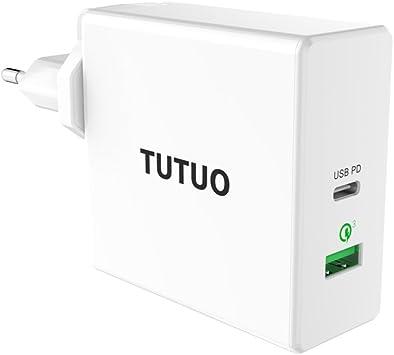 TUTUO 60W Cargador Rápido de Pared USB C PD (Power Delivery) y ...
