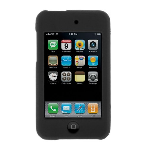 - Solid Black Rubberized Snap on Crystal Hard Case for Apple Ipod Touch Itouch 8gb 16gb 32gb 2g 2nd Generation