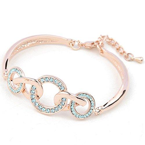 Ball And Chain Costume Homemade (MosierBizne Interlocking Crystal Bracelet(3))