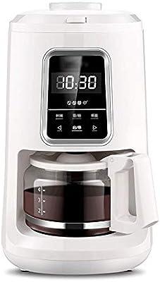 LQRYJDZ Totalmente automática máquina de moler café cafetera con 2~4 Tazas de Capacidad, Almacenamiento de Vidrio Cafetera, Tanque de Agua extraíble, 600 ml / 900W: Amazon.es: Hogar
