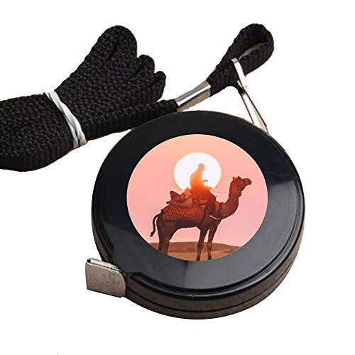 - 1.5 Meter Black tape measure Camel Sunset Tape Measure for Body customized image tape measure sewing Automatic retractable tape measure clothing measuring Tape Measure fractions Self Lock tape