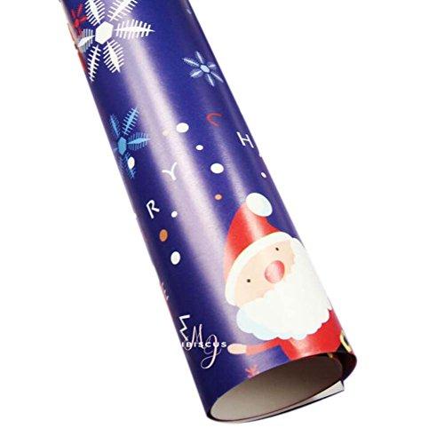 Satz von 10 Weihnachtsverpackungspapier-Karikatur-Geschenk-Verpackungspapier, Blau