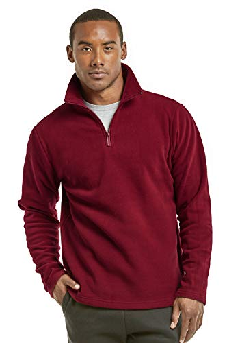 ET TU Men's Quarter Zip Polar Fleece Pullover Sweatshirt (L, - Zip Quarter Mens Fleece