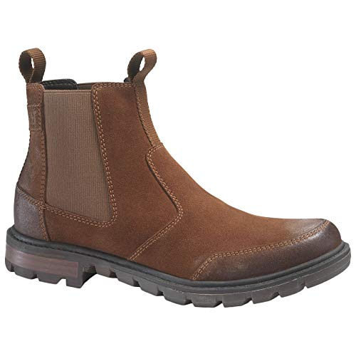 - Caterpillar Mens Economist Suede Rust Boots 10 US