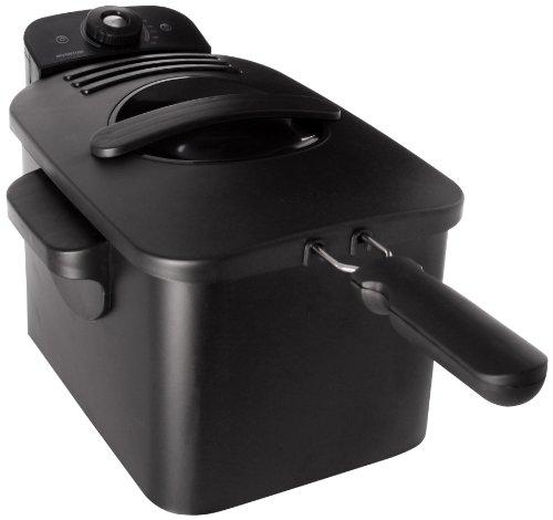Inventum GF431B Kaltzonen Fritteuse, 3 Liter, 2200 Watt, Metallgehäuse, schwarz