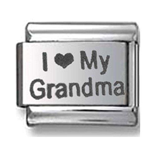 I Love My Grandma Italian charm ()