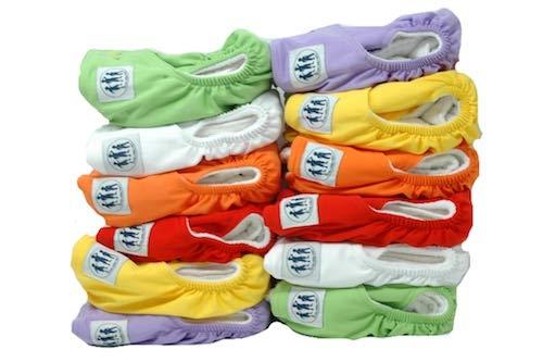 Three Little Imps Premium Range Colour Cloth Nappies (2 inserts each)- Set of 12