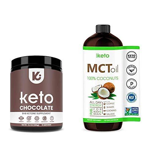 KEPPI 2X Keto Bundle – Keto MCT Oil and Exogenous Ketones Chocolate Supplement Powder